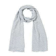 Buy John Lewis Scattered Spot Scarf, Blue Online at johnlewis.com