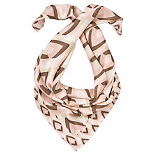 Buy COLLECTION by John Lewis Diamond Square Silk Scarf, Natural Online at johnlewis.com