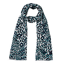 Buy John Lewis Animal Print Scarf, Navy Online at johnlewis.com