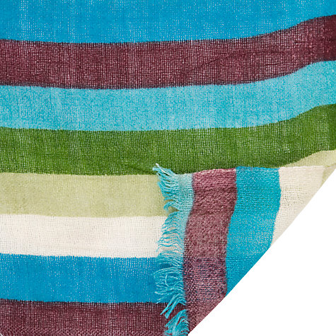 Buy John Lewis Striped Colour Block Scarf, Multi Online at johnlewis.com