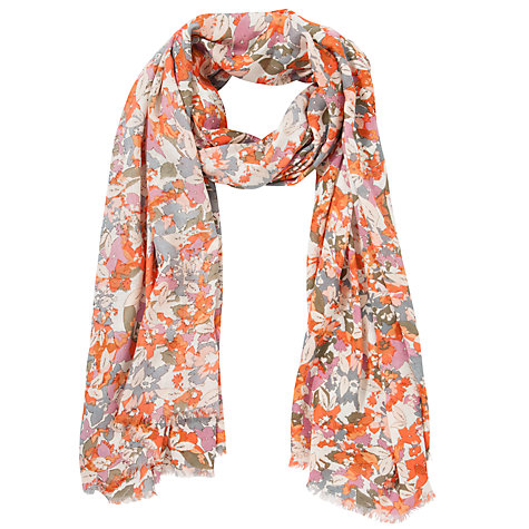 Buy Collection WEEKEND by John Lewis Multi Floral Scarf, Pink Online at johnlewis.com