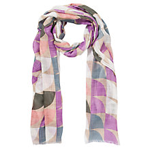 Buy Collection WEEKEND by John Lewis Circle Print Scarf, Pink Online at johnlewis.com