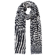 Buy COLLECTION by John Lewis Animal Print Scarf, Black Online at johnlewis.com