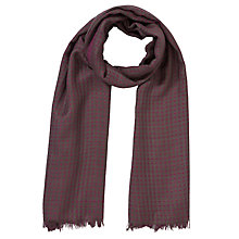 Buy COLLECTION by John Lewis Parque Jacquard Scarf Cloned Online at johnlewis.com