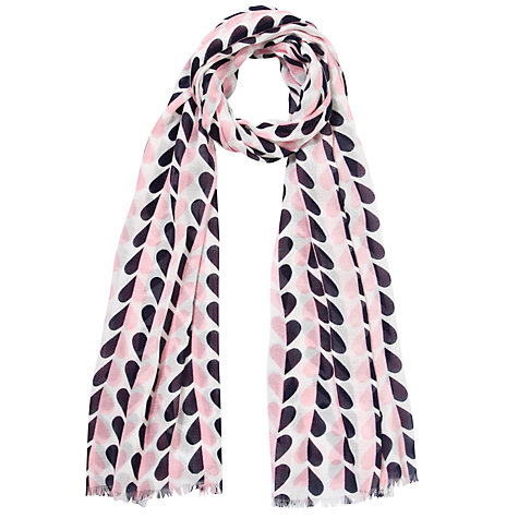 Buy Collection WEEKEND by John Lewis Heart Print Scarf , Pink/Blue Online at johnlewis.com