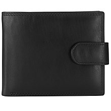 Buy John Lewis Leather Bi-Fold Tab Wallet, Black Online at johnlewis.com