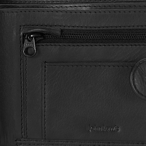 Buy John Lewis Leather Bifold Tab Wallet, Black Online at johnlewis.com