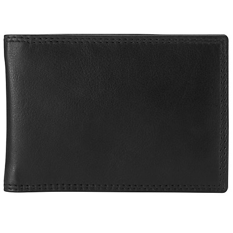 Buy John Lewis Leather Travel Card Holder, Black Online at johnlewis.com