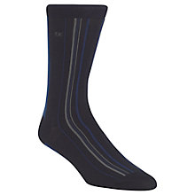 Buy Calvin Klein Racer Stripe Socks, Navy, One Size Online at johnlewis.com