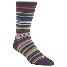 Buy Calvin Klein Barcode Socks, Purple Online at johnlewis.com