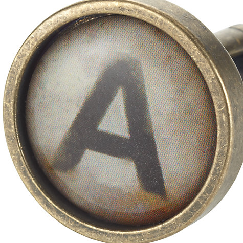Buy John Lewis Vintage Style Initial Cufflink, Single Online at johnlewis.com