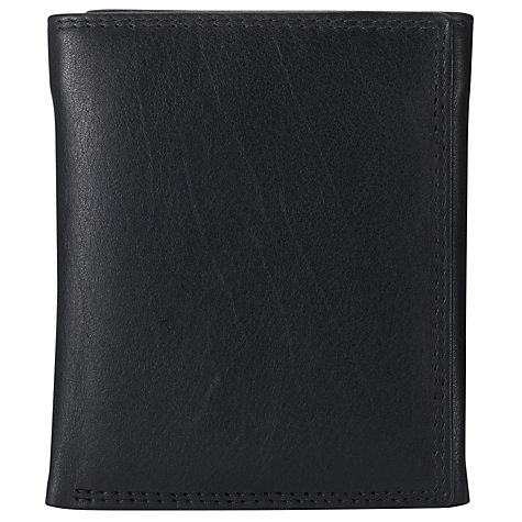 Buy John Lewis Trifold Leather Wallet, Black Online at johnlewis.com
