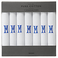 Buy John Lewis Initial Handkerchiefs, Pack of 7 Online at johnlewis.com