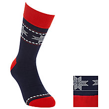 Buy John Lewis Novelty Fair Isle Socks, Pack Of 2, Navy Online at johnlewis.com