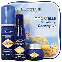 Buy L'Occitane Immortelle Anti-Ageing Starter Set Online at johnlewis.com