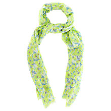 Buy Oasis Floral Scarf, Green/Multi Online at johnlewis.com