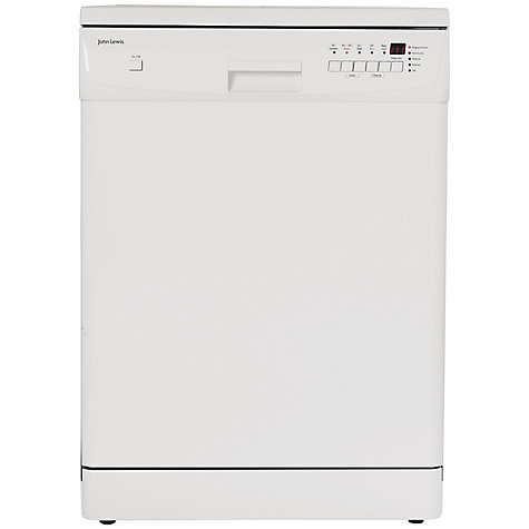 Buy John Lewis JLDWW1202 Dishwasher, White Online at johnlewis.com