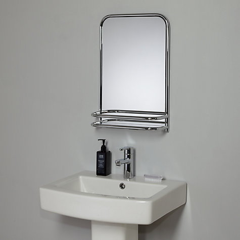 restoration bathroom wall mirror with shelf online at