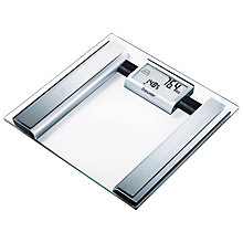 Buy Beurer Glass Calorie Counter Bathroom Scale Online at johnlewis.com