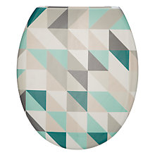 Buy John Lewis Mosaic Print Toilet Seat Online at johnlewis.com