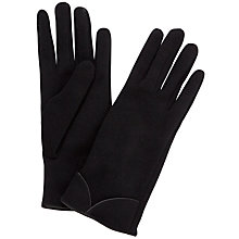 Buy John Lewis Thermal Jersey Gloves, Black Online at johnlewis.com