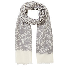 Buy Lola Rose Leopard Lace Scarf, Grey Online at johnlewis.com