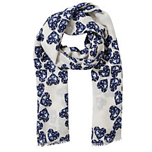 Buy Lola Rose Jewel Heart Print Scarf, White Online at johnlewis.com
