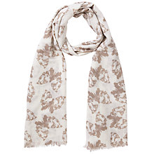 Buy Lola Rose Lion Butterfly Print Scarf, Taupe Online at johnlewis.com
