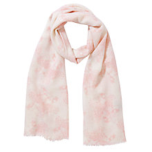 Buy Lola Rose Painted Floral Print Scarf, Pink Online at johnlewis.com