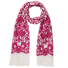 Buy Lola Rose Leopard Print Lace Scarf, Red Online at johnlewis.com