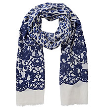 Buy Lola Rose Boxed Wool Leopard Lace Scarf, Blue Online at johnlewis.com