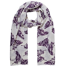 Buy Lola Rose Boxed Wool Leaf Butterfly Scarf, Purple Online at johnlewis.com