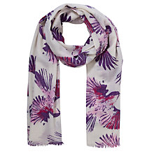 Buy Lola Rose Painted Bird Boxed Wool Scarf, Purple Online at johnlewis.com