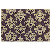 Buy John Lewis Damask Coir Doormat, L70 x W50cm, Cassis Online at johnlewis.com