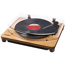 Buy ION Pure LP Conversion Turntable, Wood Online at johnlewis.com