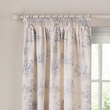 Buy John Lewis Leckford Toile Pencil Pleat Curtains Online at johnlewis.com