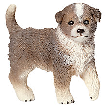 Buy Schleich Farm Life: Australian Shepard Dog Puppy Online at johnlewis.com
