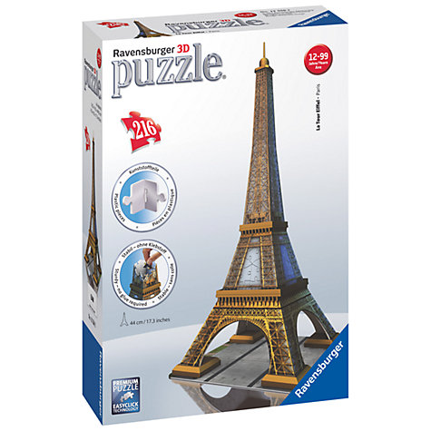 Buy Ravensburger 3D Puzzle, Eiffel Tower Online at johnlewis.com