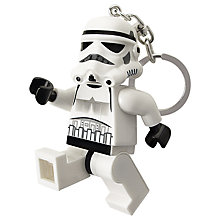 Buy LEGO Star Wars Keyring with Light, Stormtrooper Online at johnlewis.com