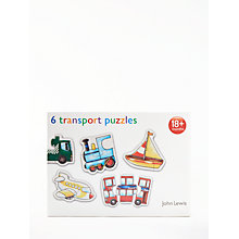 Buy John Lewis My First Vehicles Puzzle Online at johnlewis.com