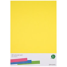 Buy John Lewis A4 Card, Pack Of 60 Online at johnlewis.com