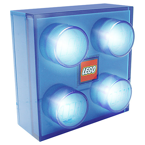 Buy LEGO Brick Light, Blue Online at johnlewis.com