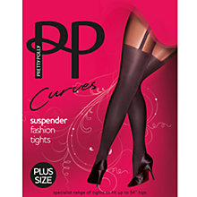 Buy Pretty Polly Curves Suspender Tights, Black Online at johnlewis.com
