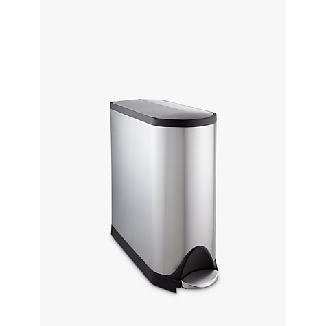 Buy simplehuman Butterfly Pedal Bin, Fingerprint Proof Brushed Stainless Steel, 45L Online at johnlewis.com