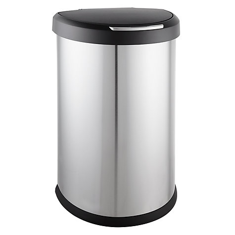 Buy simplehuman Semi-Round Sensor Bin, Matt Steel, 45L Online at johnlewis.com