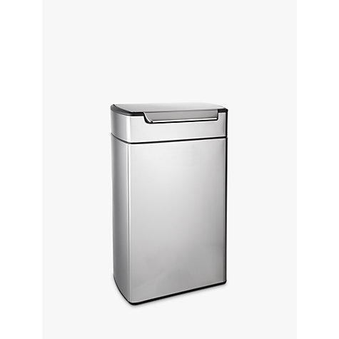 Buy simplehuman Rectangular Touch Bar Bin, Stainless Steel, 40L Online at johnlewis.com