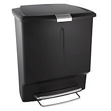 Buy simplehuman Recycling Pedal Bin, Black, 60L Online at johnlewis.com