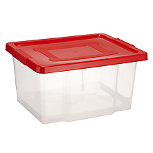 Buy John Lewis Clear Storage Boxes, Set of 4 Online at johnlewis.com
