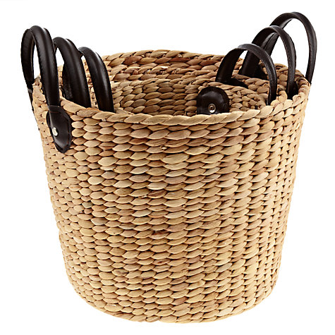 Buy John Lewis Round Water Hyacinth Storage Baskets, Set of 3 Online at johnlewis.com