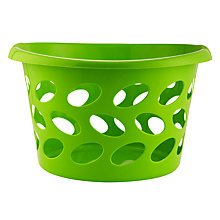 Buy John Lewis Round Laundry Basket, Green Online at johnlewis.com